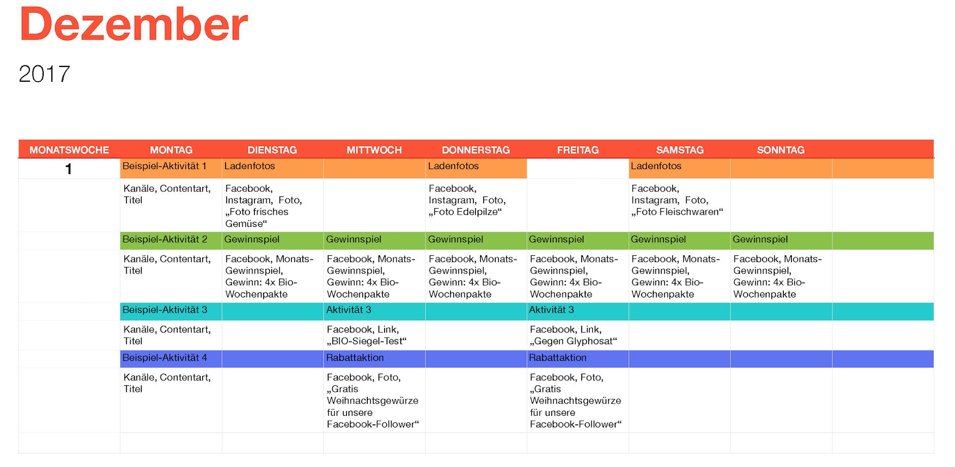 Social Media Strategie - Der Social Media Kalender