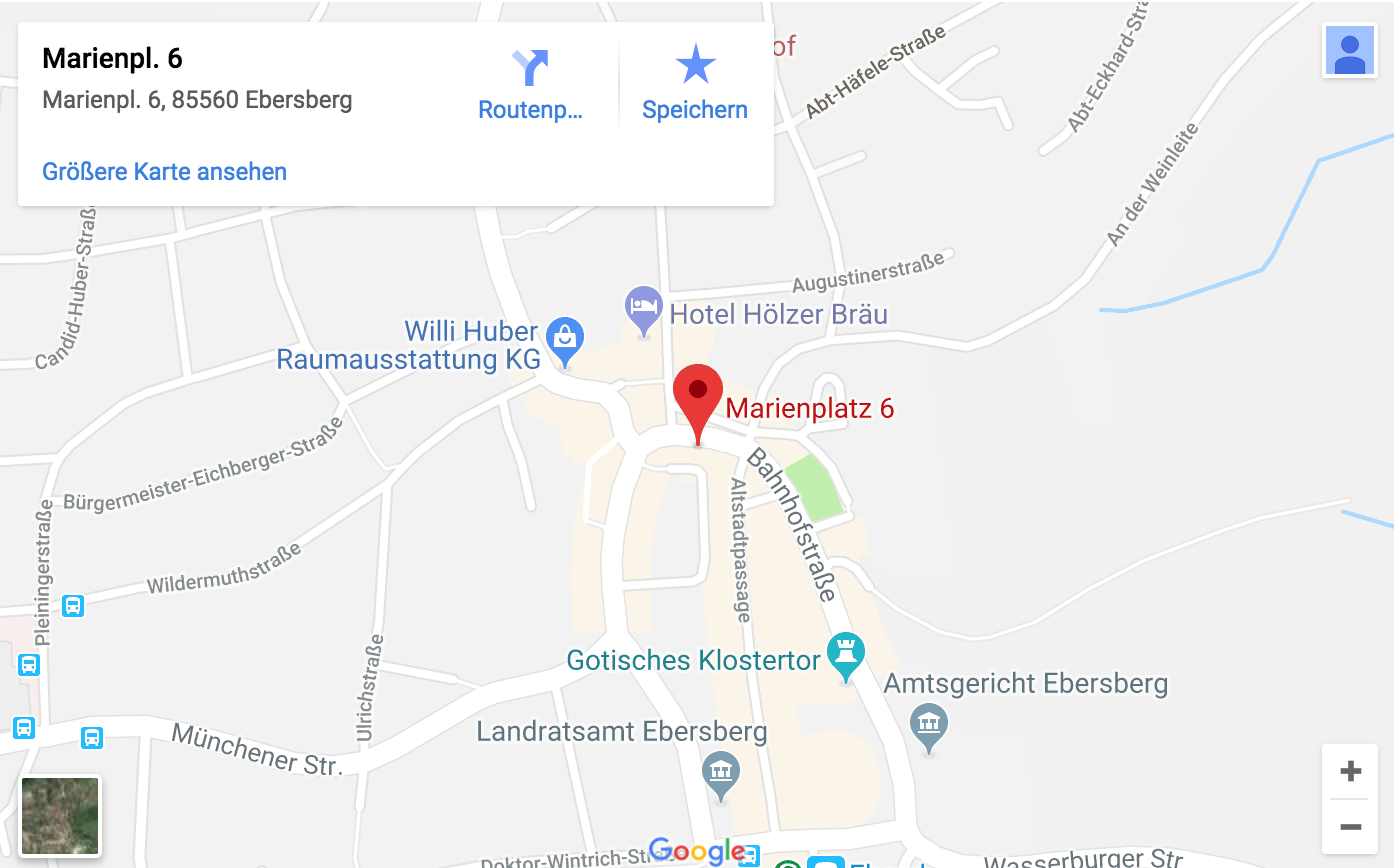 Lokales Onlinemarketing - Interaktive Karte